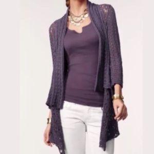 CAbi Timeless Crochet Open Cardigan Sz XL #719